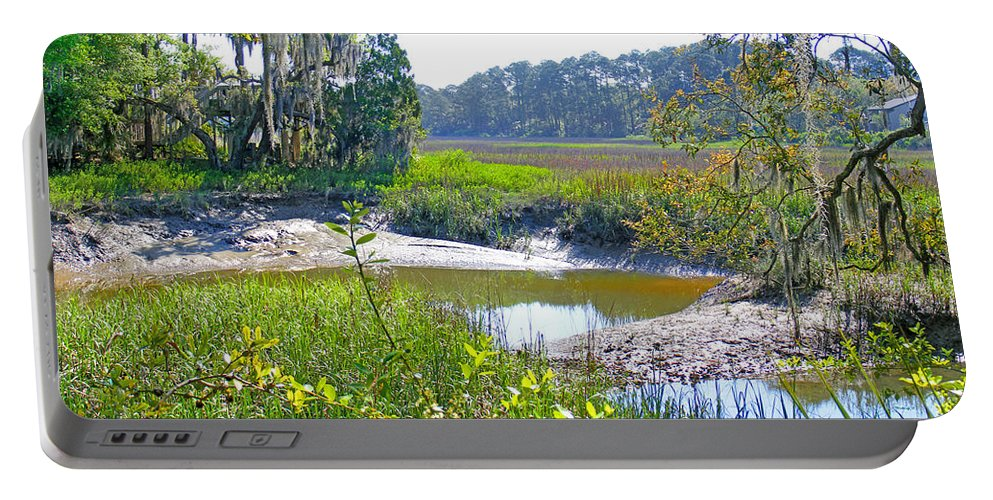 Creek Portable Battery Charger featuring the photograph Tidal Creek In The Savannah by Duane McCullough