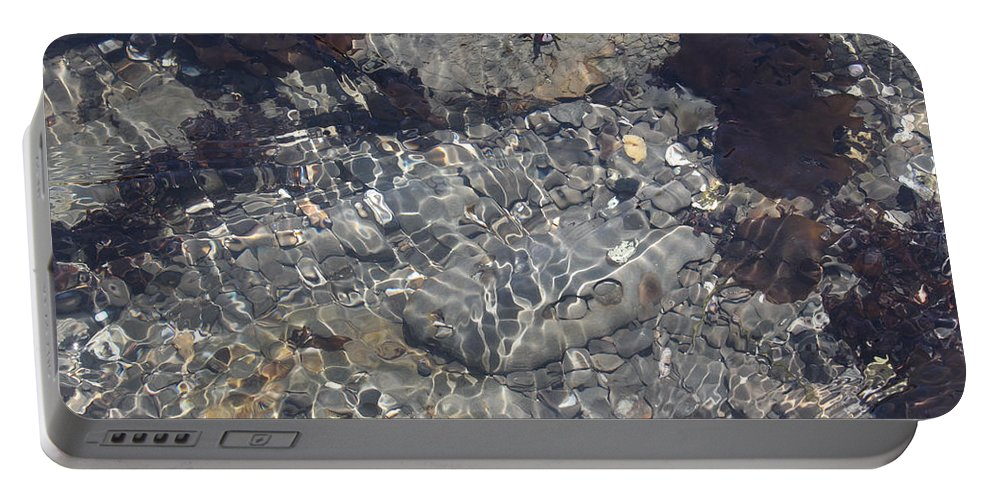 Nature Portable Battery Charger featuring the photograph Tidepool Ripples by Noa Mohlabane