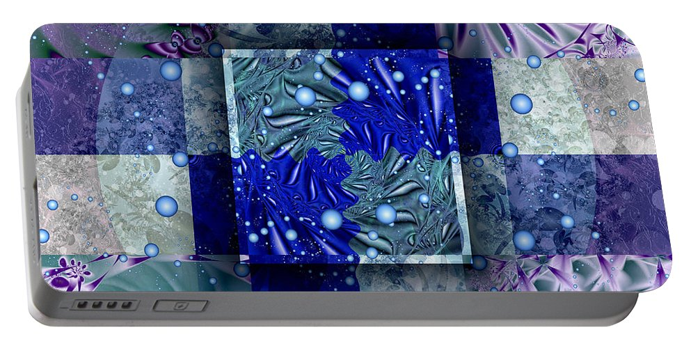 Tidepools Portable Battery Charger featuring the digital art Tidepools by Kimberly Hansen