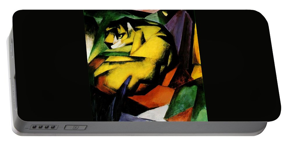 Franz Portable Battery Charger featuring the painting Tiger 1912 by Franz Marc