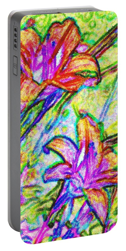 Tiger Portable Battery Charger featuring the photograph Tiger Lillies by Ian MacDonald
