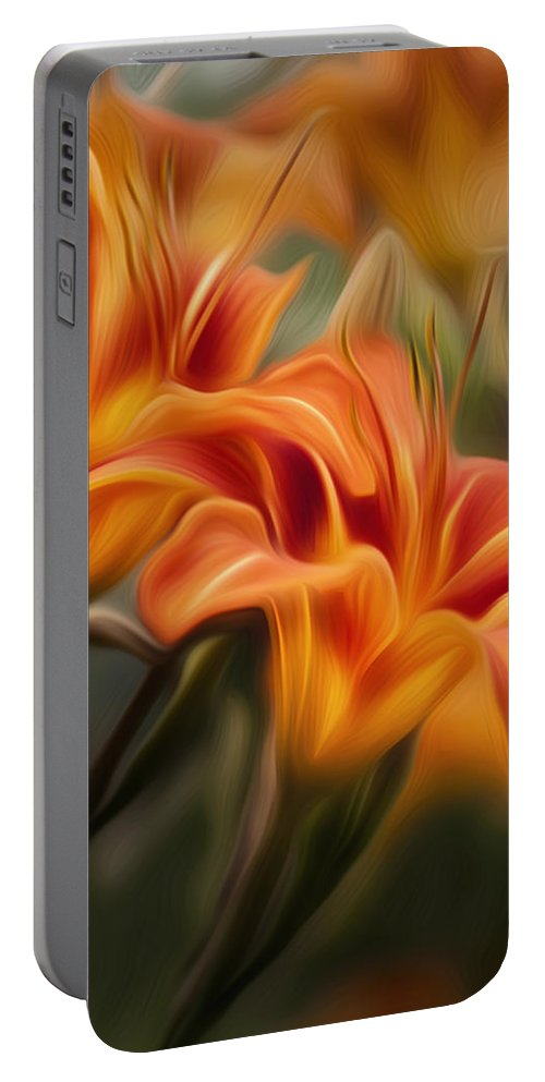Lilly Portable Battery Charger featuring the photograph Tiger Lily by Bill Wakeley