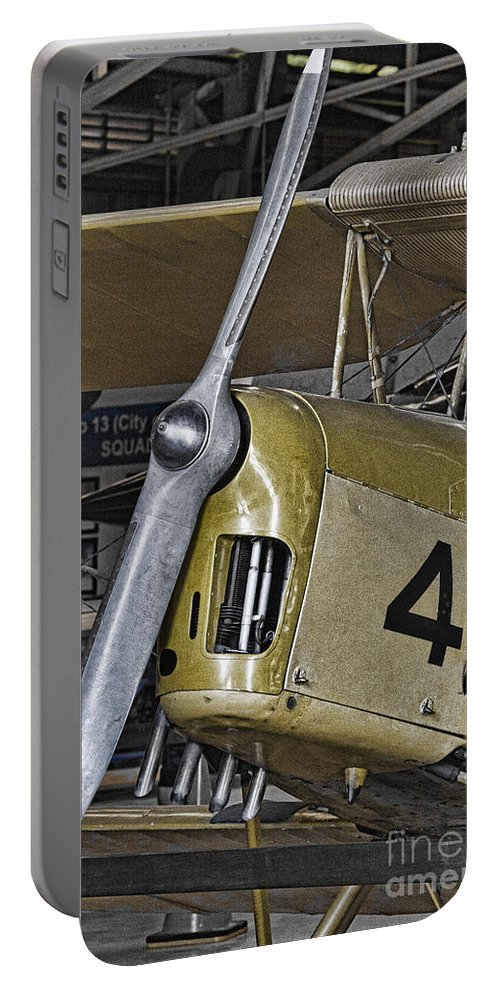 Tiger Moth Portable Battery Charger featuring the photograph Tiger Moth by Douglas Barnard