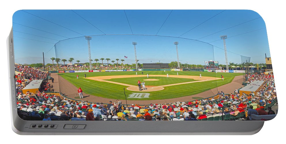 Detroit Tigers Portable Battery Charger featuring the photograph Tigers Grapefruit League by C H Apperson