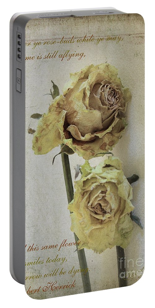 Cards Portable Battery Charger featuring the photograph 'til Death Us Do Part by Elaine Teague