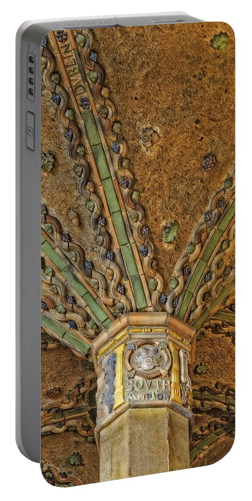 Byzantine Portable Battery Charger featuring the photograph Tile Work by Susan Candelario