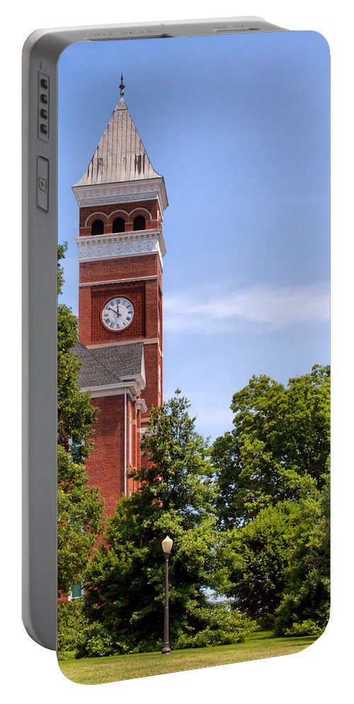 Tillman Portable Battery Charger featuring the photograph Tillman Hall Side Angle by Lynne Jenkins