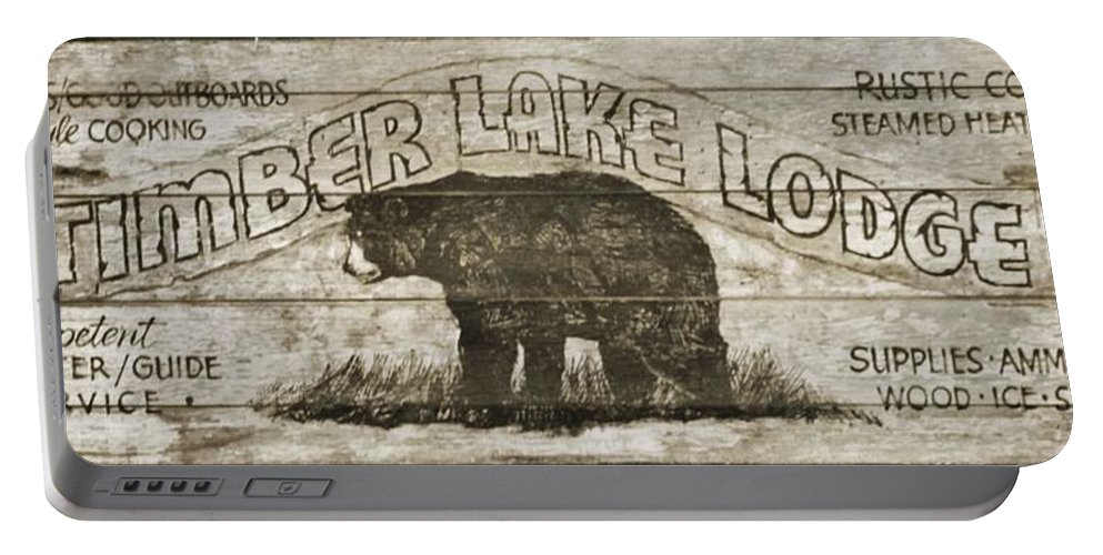 Timber Lake Lodge Portable Battery Charger featuring the photograph Timber Lake Lodge by Dan Sproul