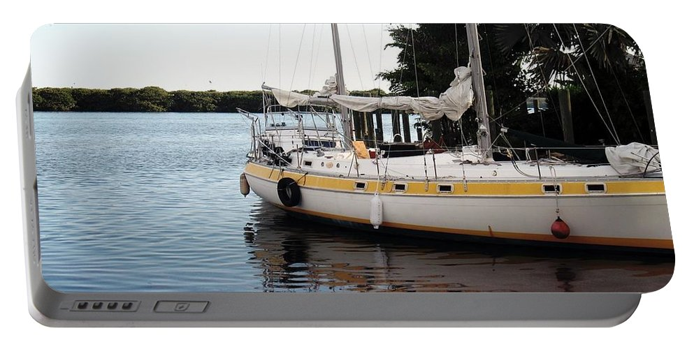 Boat Portable Battery Charger featuring the photograph Time To Go Fishing by Wendy Gertz