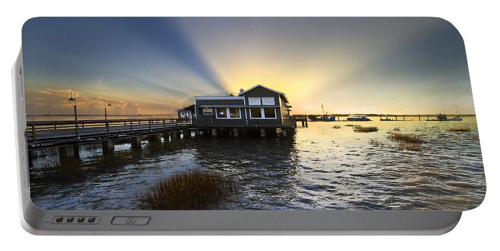 Clouds Portable Battery Charger featuring the photograph Time To Relax by Debra and Dave Vanderlaan