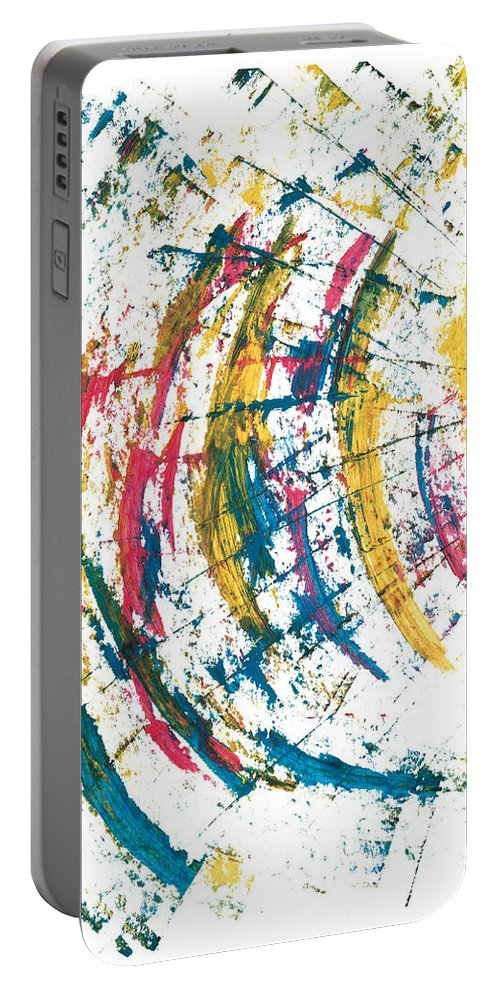 Contemporary Portable Battery Charger featuring the painting Time Travel by Bjorn Sjogren