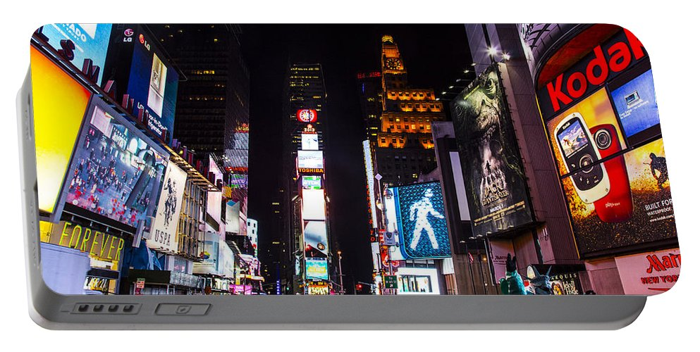 New York City Portable Battery Charger featuring the photograph Times Square by Angus Hooper Iii