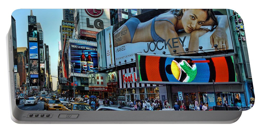 Times Square Portable Battery Charger featuring the photograph Times Square Energy by New York