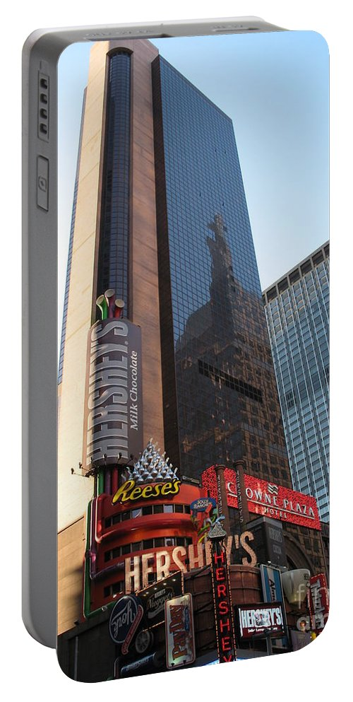 Times Square Portable Battery Charger featuring the photograph Times Square - New York City by Christiane Schulze Art And Photography