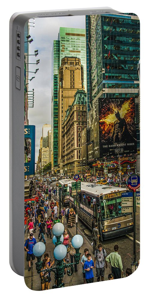 New York Portable Battery Charger featuring the photograph Times Square by Theodore Jones