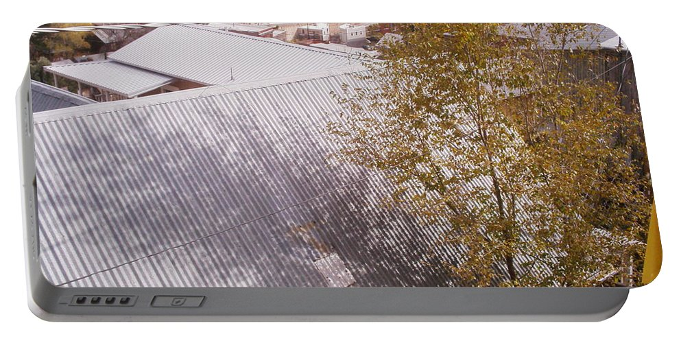 Tree Portable Battery Charger featuring the photograph Tin Roof by David S Reynolds