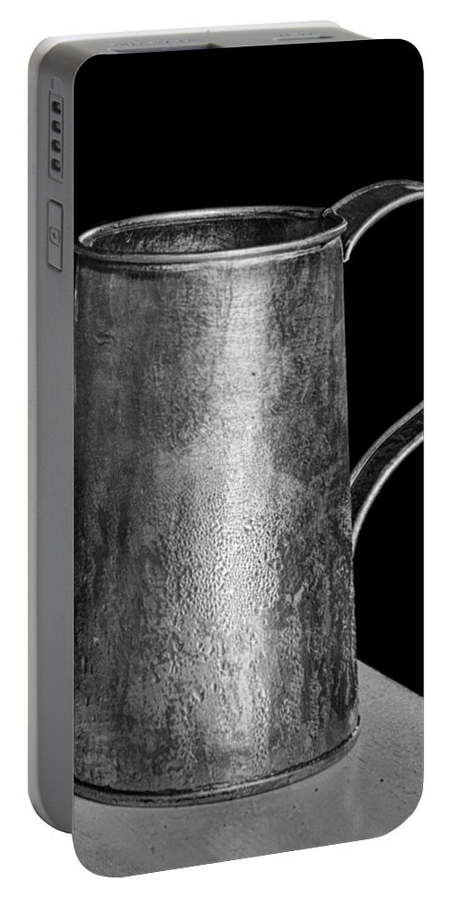 Mug Portable Battery Charger featuring the photograph Tinsmith's Refreshment by Nikolyn McDonald
