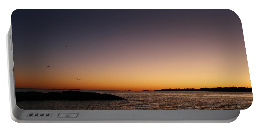 Sunset Portable Battery Charger featuring the photograph Tones Of Home by Neal Eslinger