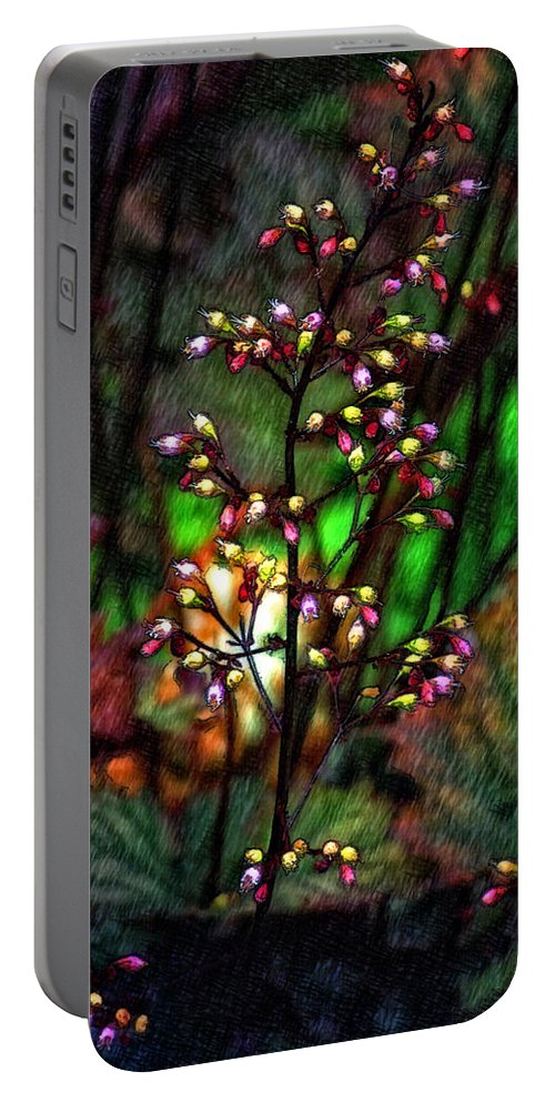 Flower Portable Battery Charger featuring the photograph Tiny Dancer Sketch by Steve Harrington