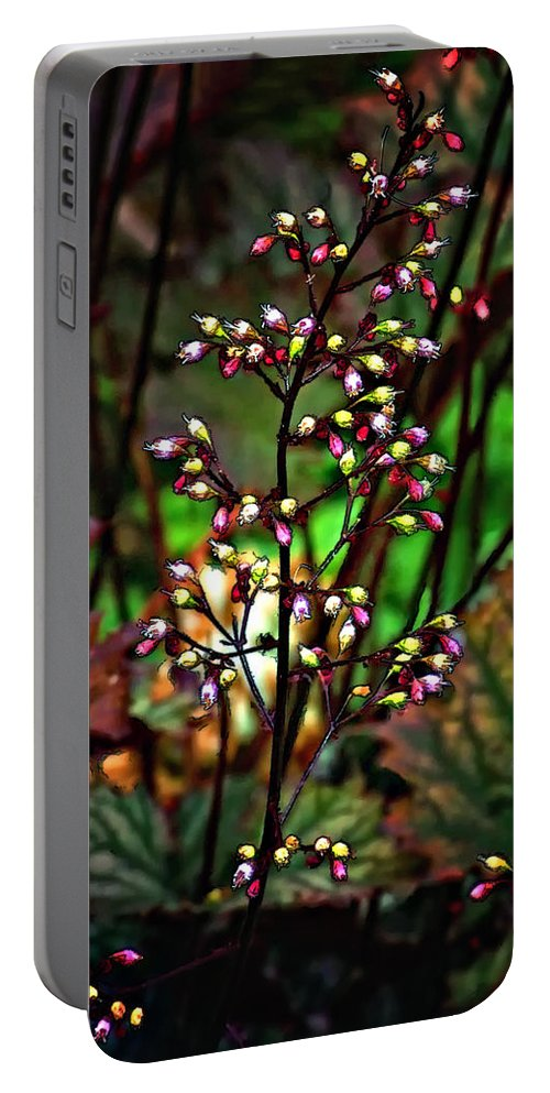 Flower Portable Battery Charger featuring the photograph Tiny Dancer by Steve Harrington