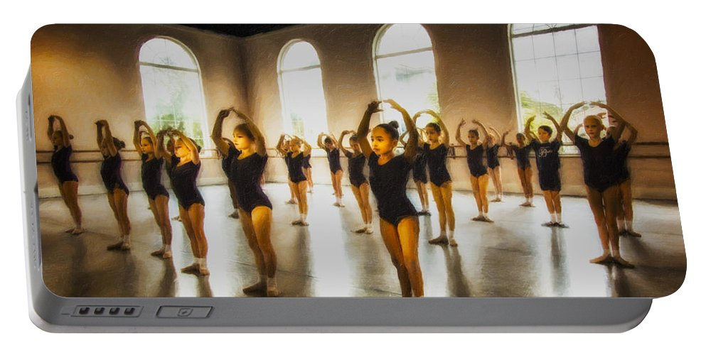 Ballet Portable Battery Charger featuring the photograph Tiny Dancers by Janet Fikar