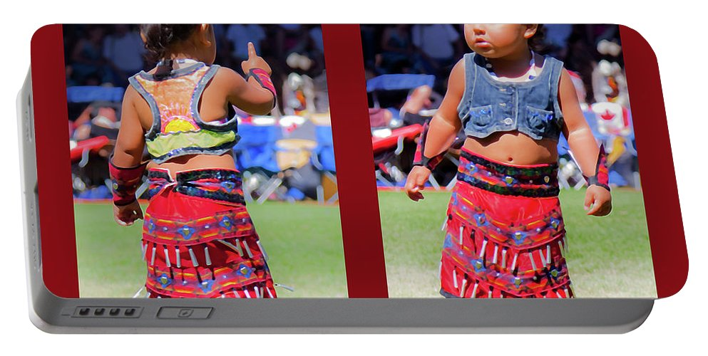 Toddler Portable Battery Charger featuring the photograph Tiny Jingle Dancer by Theresa Tahara