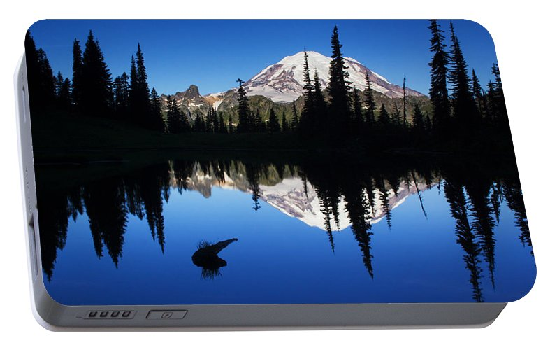Nature Portable Battery Charger featuring the photograph Tipsoo Sunrise by Mark Kiver