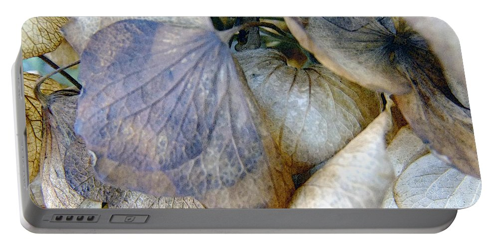 Flowers Portable Battery Charger featuring the painting Tissue Paper Petals by RC DeWinter