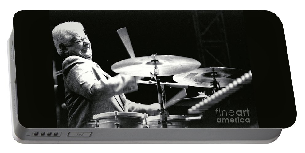 Tito Puente Portable Battery Charger featuring the photograph Tito Puente-1 by Gary Gingrich Galleries