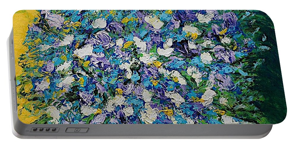 Landscape Portable Battery Charger featuring the painting To Have And Delight by Allan P Friedlander