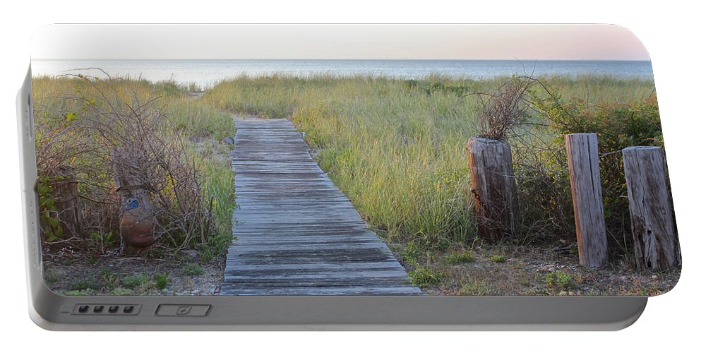 Beach Portable Battery Charger featuring the photograph To The Beach by Christy Gendalia