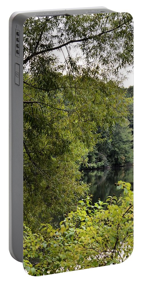 To Walk Beside Still Waters Portable Battery Charger featuring the photograph To Walk Beside Still Waters by Maria Urso