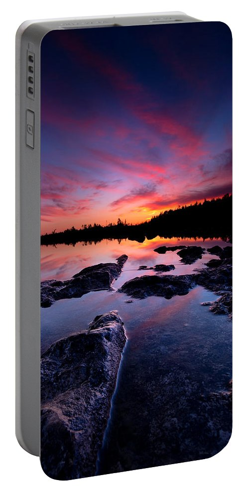 Landscape Portable Battery Charger featuring the photograph Tobermory Sunset 2 by Cale Best