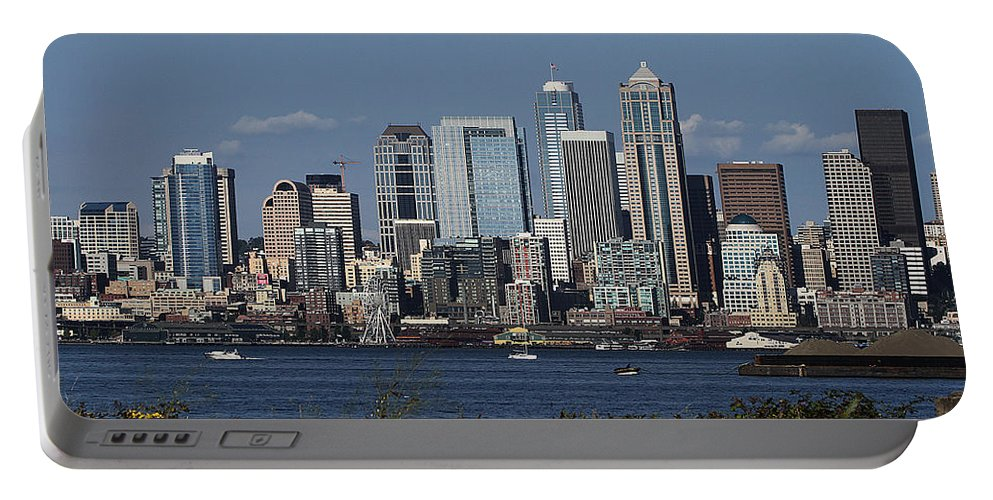 Today In Seattle Portable Battery Charger featuring the photograph Today In Seattle by Tom Janca