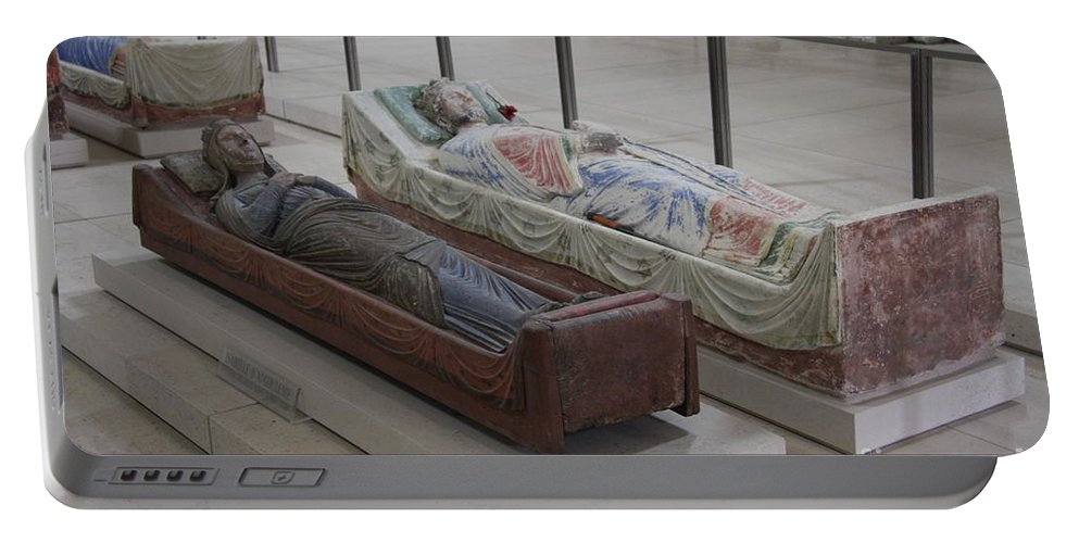 Tomb Portable Battery Charger featuring the photograph Tomb Of Richard I Of England Fontevraud Abbey by Christiane Schulze Art And Photography