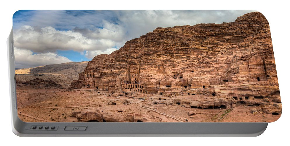 Petra Portable Battery Charger featuring the photograph Tombs Of Petra by Alexey Stiop