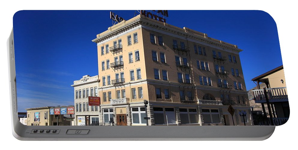 America Portable Battery Charger featuring the photograph Tonopah Nevada - Mizpah Hotel by Frank Romeo