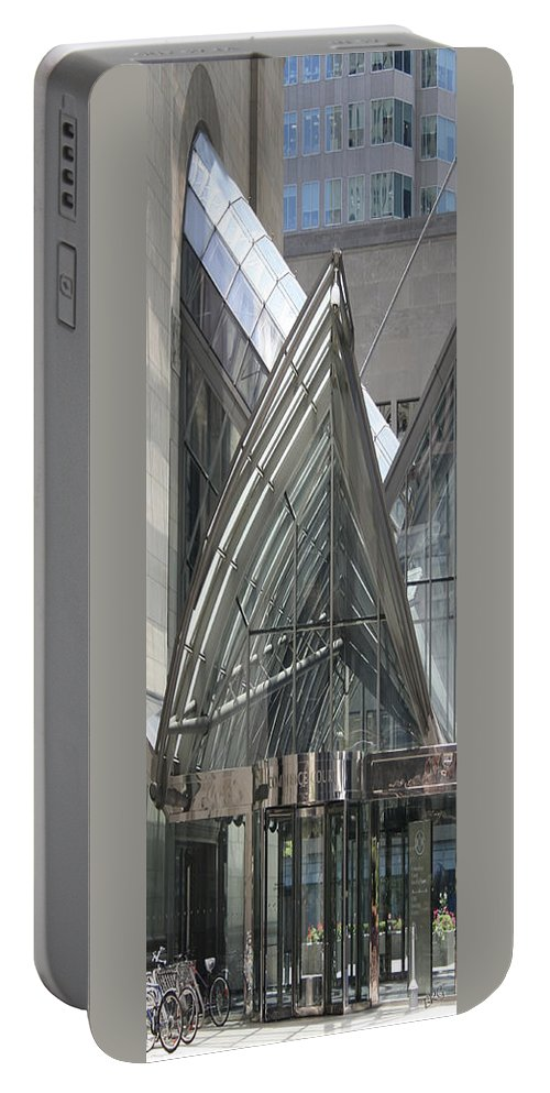 Architectural Detail Portable Battery Charger featuring the photograph Toronto Silhouettes Iv by Ben and Raisa Gertsberg