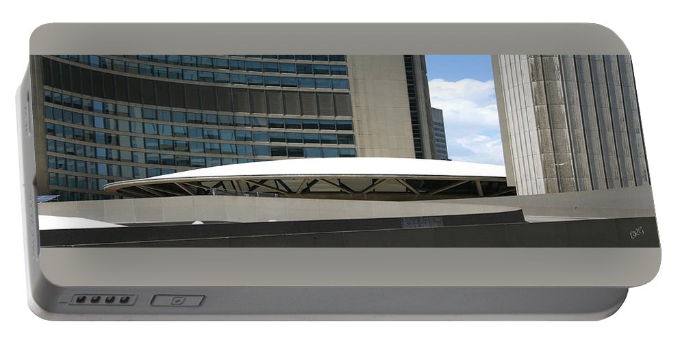 Architectural Detail Portable Battery Charger featuring the photograph Toronto Silhouettes V by Ben and Raisa Gertsberg