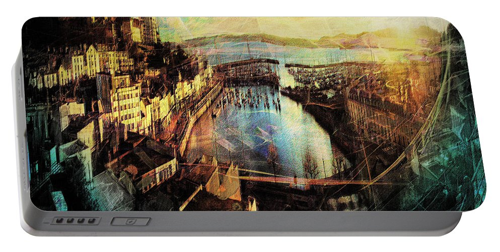 Abstract Portable Battery Charger featuring the photograph Torquay 2013 by Edmund Nagele
