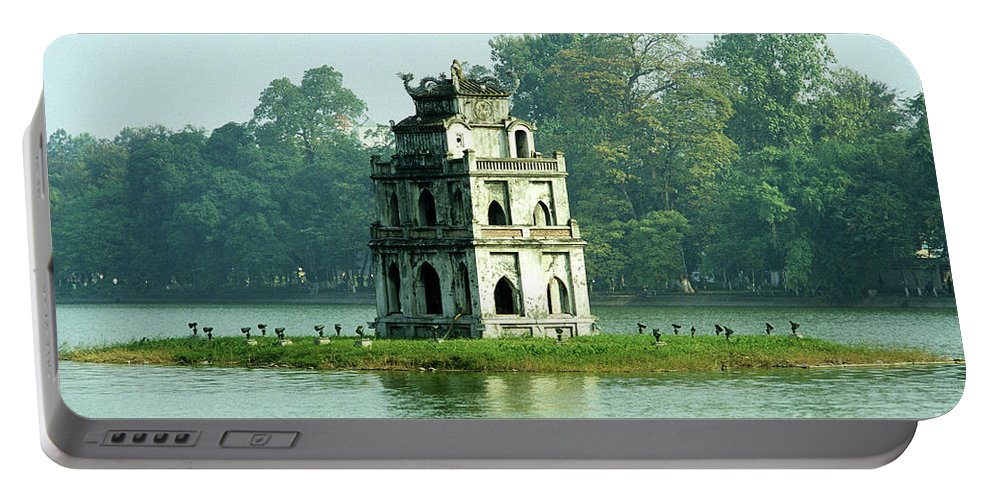 Vietnam Portable Battery Charger featuring the photograph Tortoise Tower 01 by Rick Piper Photography