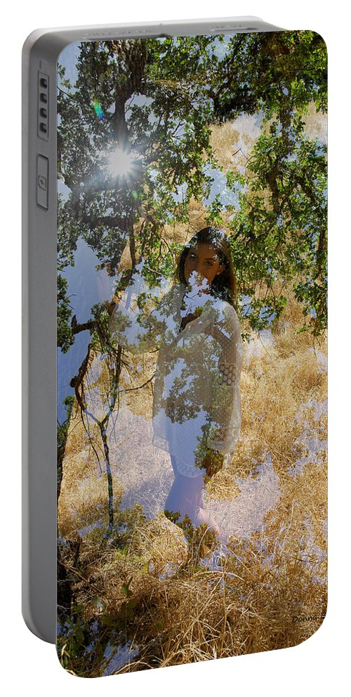 Maiden Portable Battery Charger featuring the photograph Touching Earth by Donna Blackhall