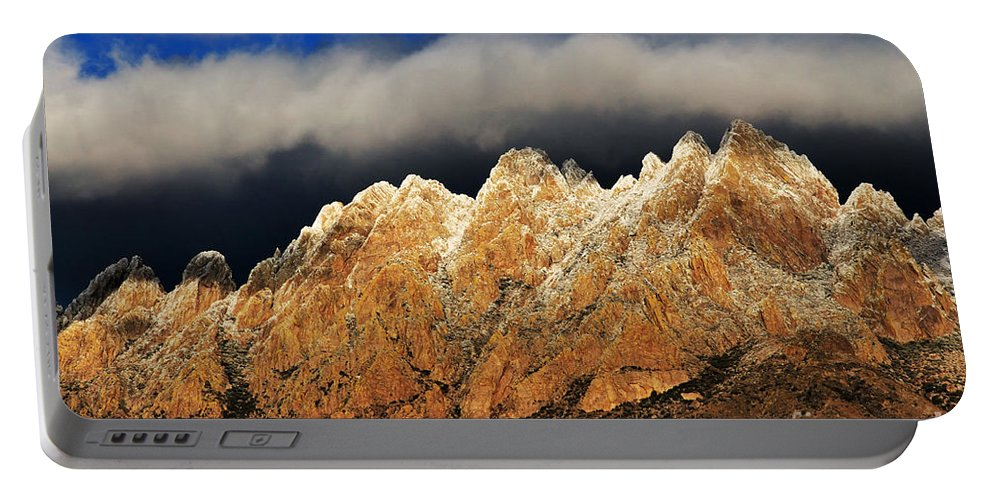 Las Cruces Portable Battery Charger featuring the photograph Touching The Clouds by Vivian Christopher