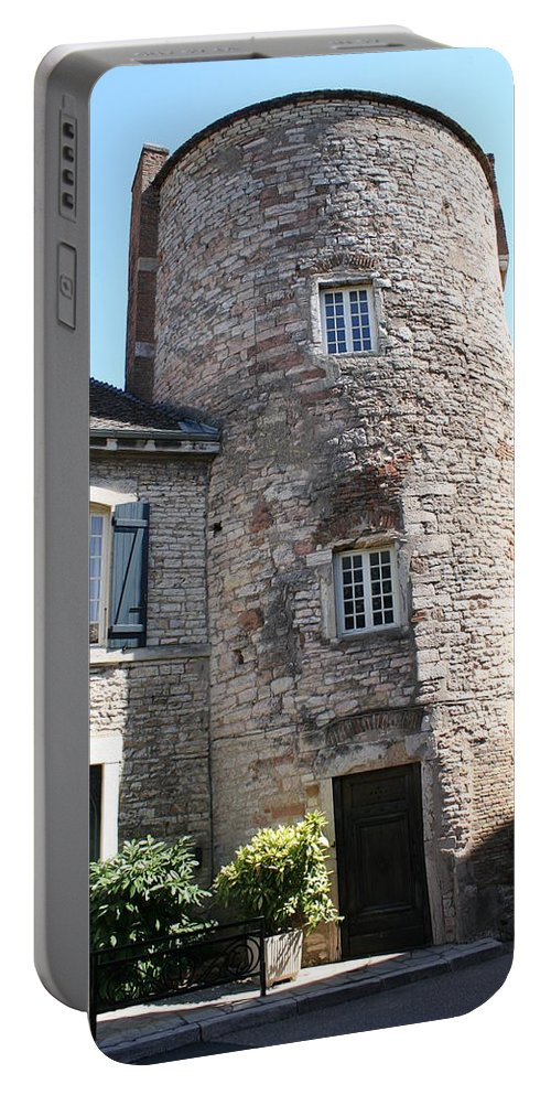 City Wall Portable Battery Charger featuring the photograph Tournus Village by Christiane Schulze Art And Photography