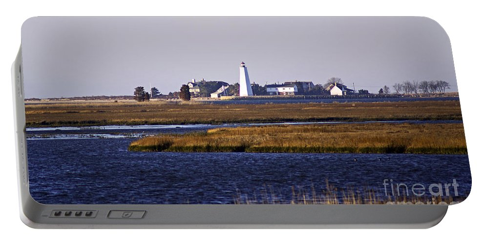 Lighthouse Portable Battery Charger featuring the photograph Toward Saybrook by Joe Geraci