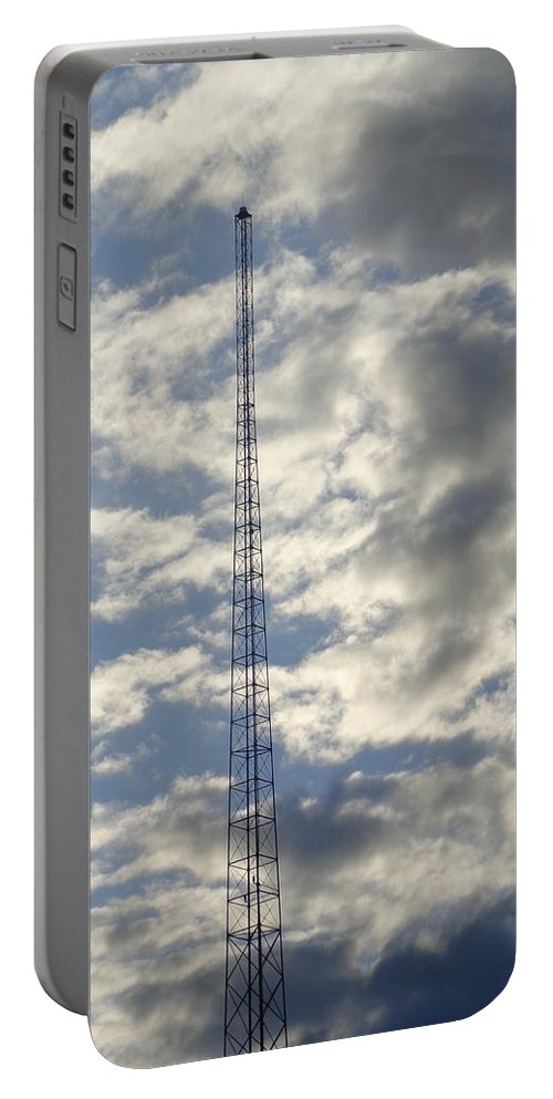 Airplane Portable Battery Charger featuring the photograph Tower After The Rain by Jannice Walker