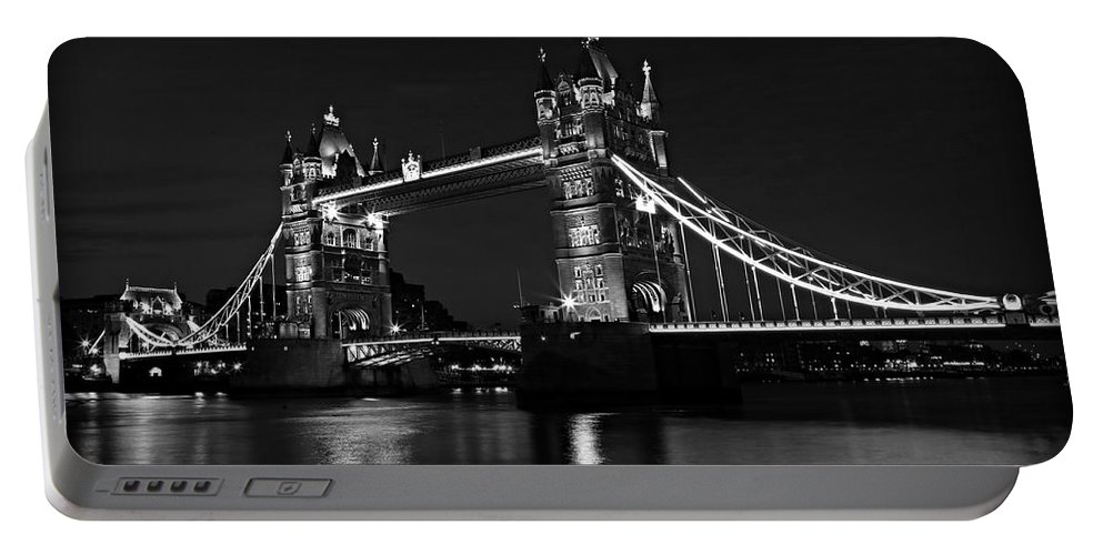 London Portable Battery Charger featuring the photograph Tower Bridge Evening by Stephen Stookey