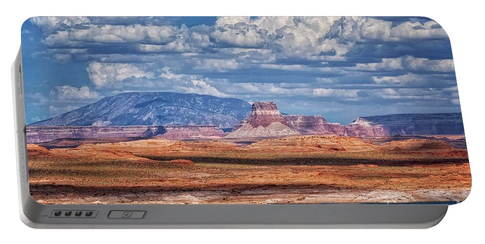 Lake Powell Portable Battery Charger featuring the photograph Tower Butte by Claudia Kuhn