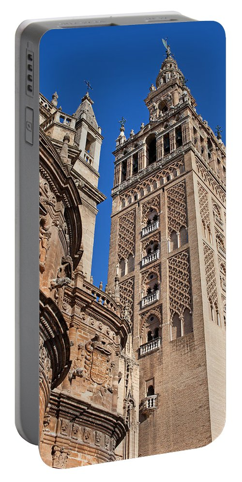 Almohad Portable Battery Charger featuring the photograph Tower Of The Seville Cathedral by Artur Bogacki