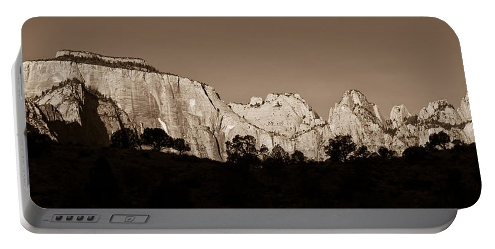 3scape Photos Portable Battery Charger featuring the photograph Towers Of The Virgin by Adam Romanowicz